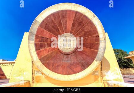 Astronomical instruments at Jantar Mantar observatory, Jaipur, India, Asia - Stock Photo