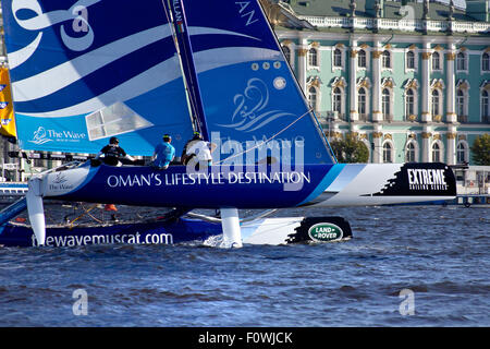 St Petersburg, Russia. 21st August, 2015. The team from Oman are three-time overall Series winners and 2014 runners - Stock Photo