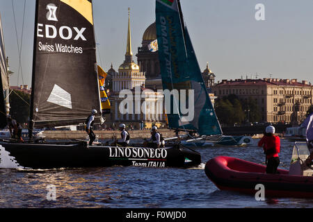 St Petersburg, Russia. 21st August, 2015. LINO SONEGO Team (Italia) is led by Lorenzo Bressani, who has twice been - Stock Photo