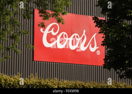 Coors brewery sign burton upon trent - Stock Photo