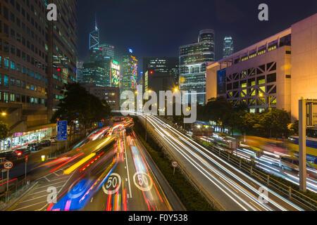 street at night wan chai hong kong island hong kong china asia