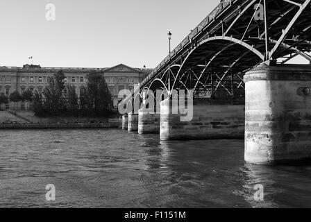 Pont des Arts at Sunset, Paris, Francis - Stock Photo