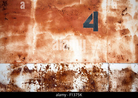 Background of rusty warehouse doors. - Stock Photo