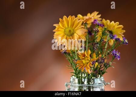 beautiful flower in vase - Stock Photo