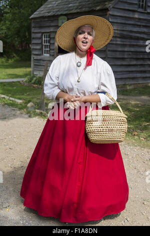 Old Bethpage, New York, USA. 30th Aug, 2015. JANET DEMAREST is the Storyteller of local Long Island Legends during - Stock Photo