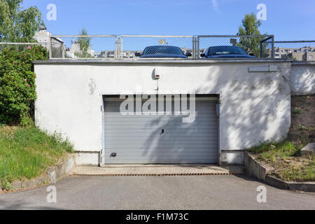 entrance to an underground parking garage in new york city stock photo royalty free image. Black Bedroom Furniture Sets. Home Design Ideas