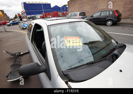 Car With No Tax Parked On Road