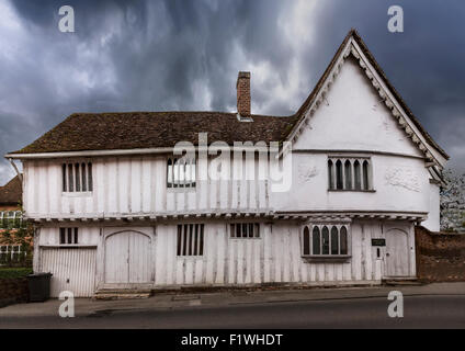Lavenham, a village and civil parish in Suffolk, England  noted for its 15th-century church, half-timbered medieval - Stock Photo