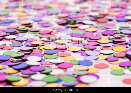 holiday colorful confetti background - Stock Photo