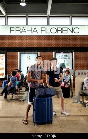 Praha Florenc bus station in Prague, Czech Republic - Stock Photo