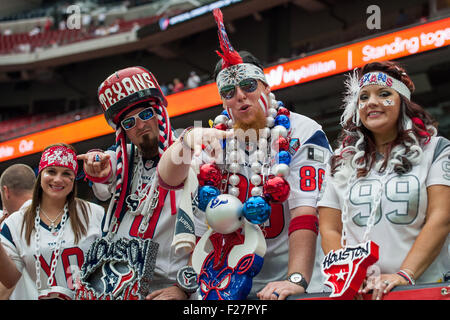 Houston, Texas, USA. 13th Sep, 2015. Houston Texans fans prior to an NFL game between the Houston Texans and the - Stock Photo