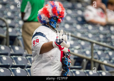 Houston, Texas, USA. 13th Sep, 2015. A Houston Texans fan prior to an NFL game between the Houston Texans and the - Stock Photo