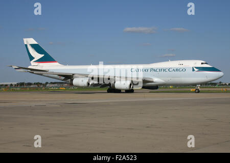 CATHAY PACIFIC CARGO 747 - Stock Photo