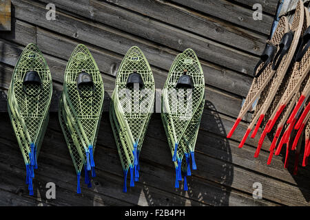 Snowshoes Hanging On Wall Stock Photo Royalty Free Image
