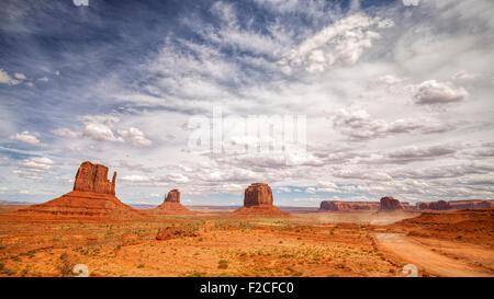 Monument Valley Navajo Tribal Park, Utah, USA. - Stock Photo
