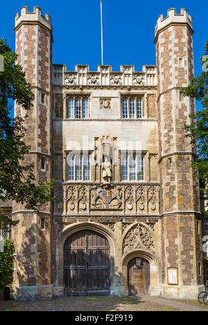 The entrance to Trinity College, Cambridge, Cambridgeshire, England, UK - Stock Photo