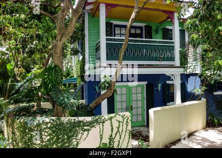 Florida Delray Beach Sundy House Historic Inn Restaurant Botanical Stock Photo Royalty Free