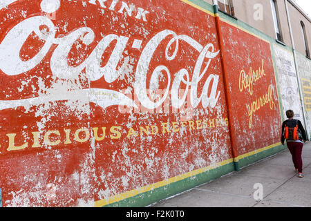 Advertising Mural For Coca Cola On The Wall Of A Store In