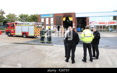 Portsmouth Hampshire Uk 21st September 2015 A Fire