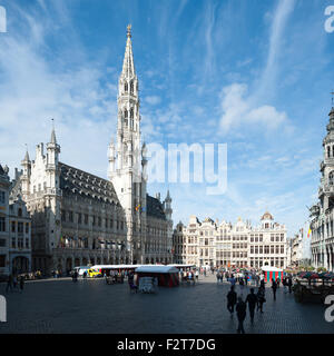 Belgium, Brussels, city hall - Stock Photo