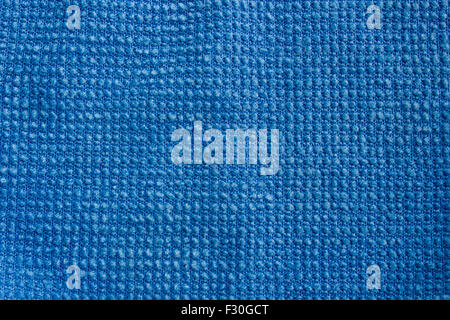 Detailed Blue towel texture - Stock Photo