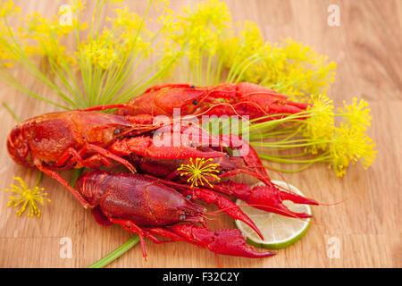 Image of fresh red crayfish. - Stockfoto