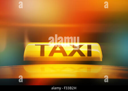 Taxi sign on roof of car stock photo 43979663 alamy for Selective motor cars miami