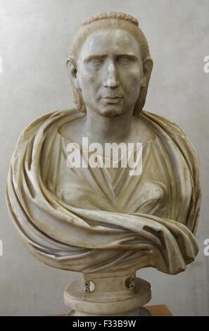 Emperor Gallienus Roman Marble Bust From 253 260 Ad