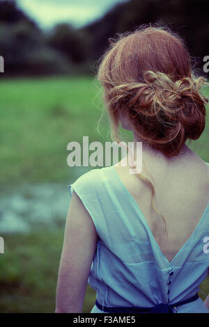 Beautiful ginger historical girl - Stockfoto