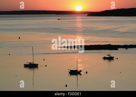 Sunrise over Casco Bay - Stock Photo