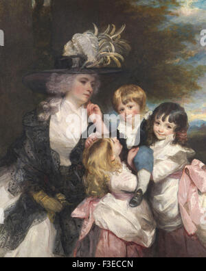 Sir Joshua Reynolds - Lady Smith (Charlotte Delaval) and Her Children (George Henry, Louisa, and Charlotte) - Stock Photo