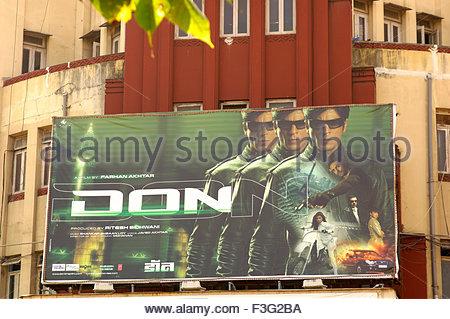 Bollywood Hindi film movie poster of Don on movie Theatre ; Bombay Mumbai ; Maharashtra ; India - Stock Photo