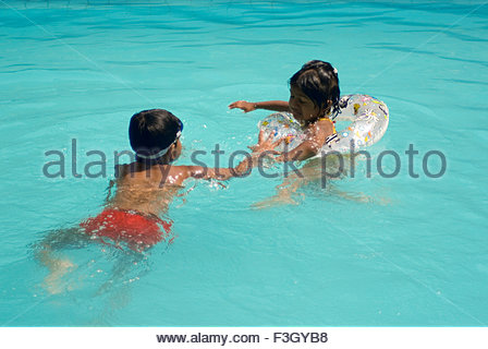 South Asian Indian Eight Year Old Boy And Six Year Old Girl Smiling Stock Photo Royalty Free