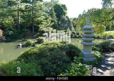 Pagoda And Pond In The Japanese Garden Portland Oregon Usa Stock Photo Royalty Free Image