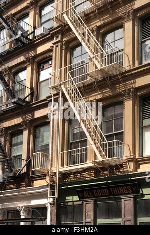 apartment building in TriBeCa, New York City - Stock Photo