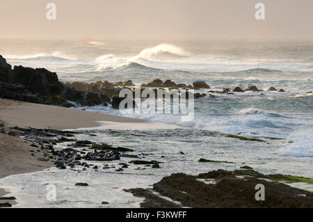 Wawes in Ho'okipa Beach. Maui. Hawaii. Ho'okipa Beach Park is one of the top spots for ocean sports and recreation - Stock Photo