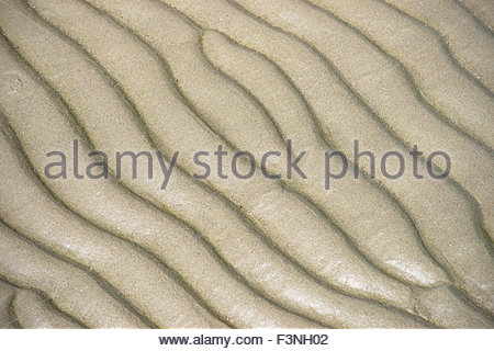 Full frame sand pattern on beach - Stock Photo