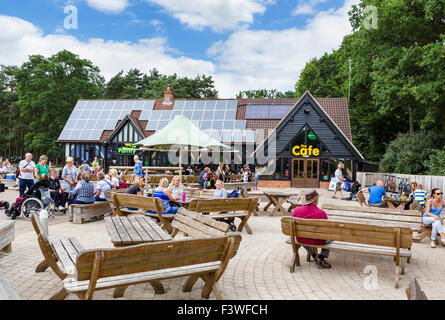 Cafe at High Lodge Visitors Centre in Thetford Forest, Norfolk, England, UK - Stock Photo