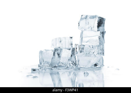 Melting ice cubes - Stock Photo