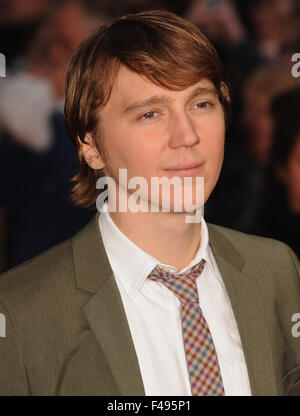 London, UK. 15th Oct, 2015. Paul Dano attends a screening of 'Youth' during the BFI London Film Festival at VUE - Stock Photo