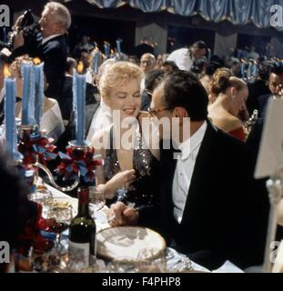 Marilyn Monroe with Arthur Miller at Waldorf Astoria, New-York, 11/04/1957 - Stock Photo