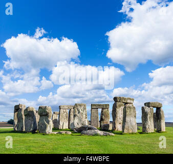 Stonehenge, near Amesbury, Wiltshire, England, UK - Stock Photo