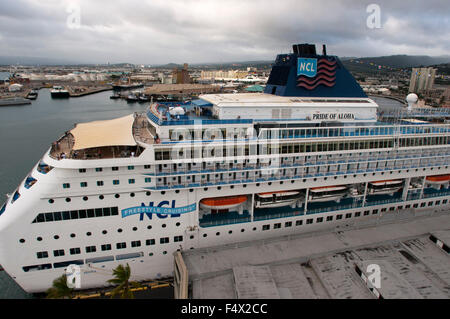 Cruise Ship Pride Of America In Kahului Harbour With West