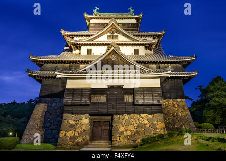Matsue, Japan at the castle. The castle has one of the few original castle keeps in the country. - Stock Photo