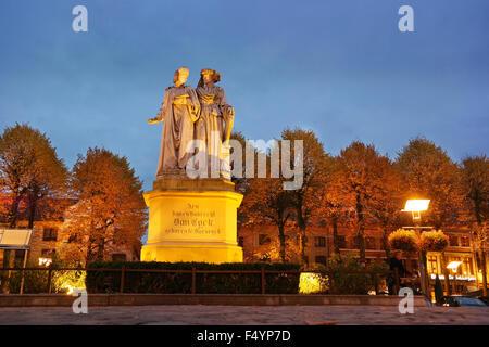 Statue in Maaseik, Belgium - Stock Photo