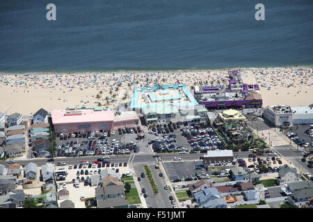 Aerial view of Point Pleasant Beach, New Jersey - Stock Photo