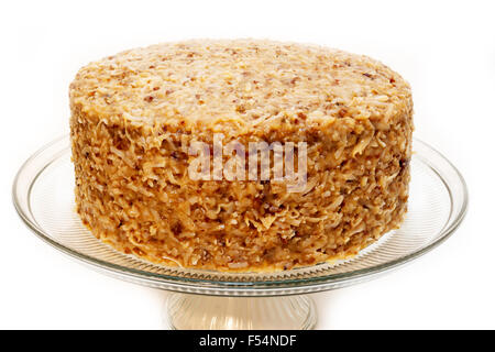 German Lebkuchen Cake With White Chocolate Frosting