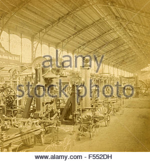 Gallery of machines, Universal Exhibition 0f 1878, Paris, France - Stock Photo