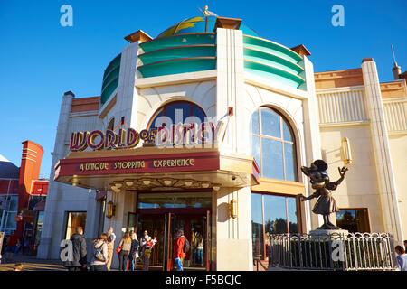 World Of Disney Store Within The Disney Village, Disneyland Paris Marne-la-Vallee Chessy France - Stock Photo