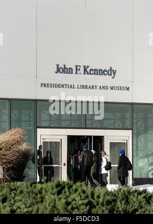 John F. Kennedy Presidential Library and Museum, Boston, Massachusetts, USA - Stock Photo